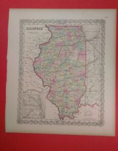 Illinois And Chicago 1856 Colton S Maps Early Railroad Lines