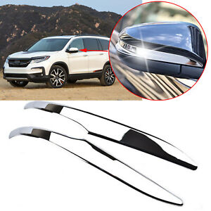 For Toyota Highlander 2014 2019 Chrome Trim Cover Set Side Rearview Mirror