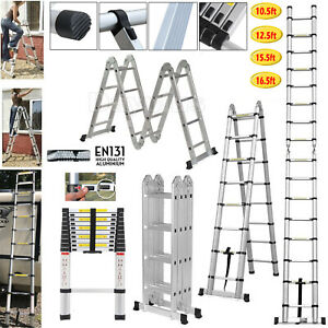 Aluminum Telescopic Collapsible Loft Folding Attic Stairs Ladder 3 2 5 Meter