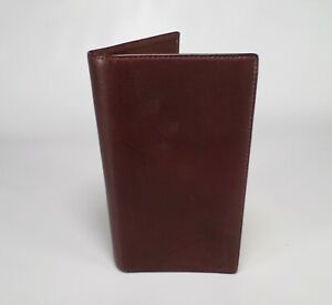 Tiffany Co Leather Telephone Address Book Planner Organizer Wallet Brown