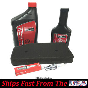 Honda Oem Engine Oil Air Filter Spark Plug tune Up Kit For Eu6500is Generator