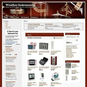 Completed High Potential Weather Instrument Online Business Website For Sale