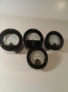 Vintage Simpson Weston Gauges Volts And Microamperes Lot Of 4