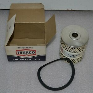 Nos New Vintage Texaco T 11 Engine Oil Filter Car Truck