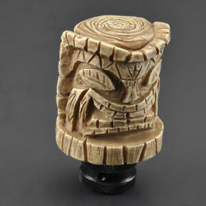 Resin Wooden Pile Stycle Car Auto Manual Stick Gear Shift Knob Lever Shifter New
