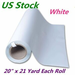 Us Stock White 20 X 21 Yard Roll Pvc Digital Heat Press Transfer Vinyl Film