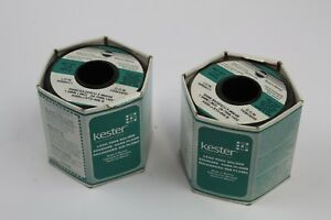 Kester New One Pound Lead Free Solder Wire Sn96 5ag03cu 5 66 48 1 5mm lot Of 2