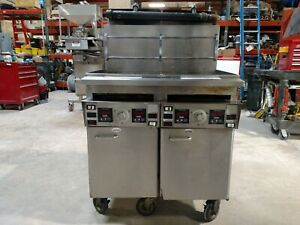 Industrial Deep Fryer Keating Model 14 ifm Double Vat