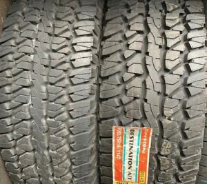 2 New Old Stock 265 75 16 Firestone Destination A T 265 75 16 114t Tires