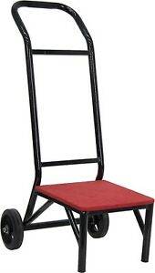Black Powder Coat Stacking Chair Dolly Cart Heavy Duty For Commercial Use