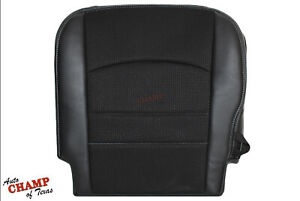 2013 2018 Dodge Ram 1500 Sport Driver Side Bottom Cloth Leather Seat Cover Black