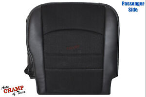 2013 2018 Dodge Ram Sport Passenger Side Bottom Cloth Leather Seat Cover Black