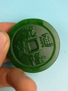 Chinese Jade Handmade Carving Jade Coin Pendant Pendants