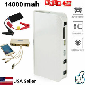 Car Jump Starter Auto Booster Kit 14000mah Emergency Battery Charger Power Bank
