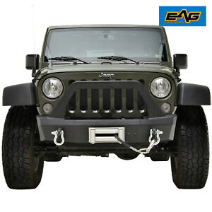 07 18 Jeep Wrangler Jk Offroad Stubby Front Bumper With Winch Plate