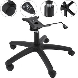 28 Office Chair Bottom Plate Cylinder Base 5 Casters Seat Kit Heavy Swivel