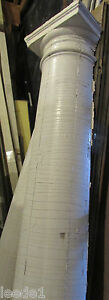 Early 1900 7 Foot Heavy Wood Tapered Half Column Vintage Architectural Salvage