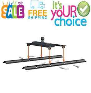 Bent Plate 5th Wheel Rail Gooseneck Hitch With Built in Safety Chain Slots New