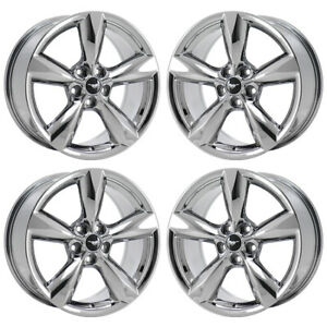 18 Ford Mustang Gt Pvd Chrome Wheels Rims Factory Oem 2018 2019 10029 Exchange