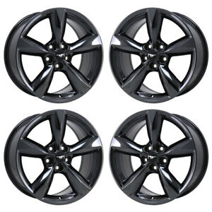18 Ford Mustang Gt Black Chrome Wheels Rims Factory Oem 10029 Exchange