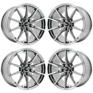 19x10 5 19x11 Ford Mustang Gt350 Pvd Chrome Wheels Factory Oem Set 10053 10054