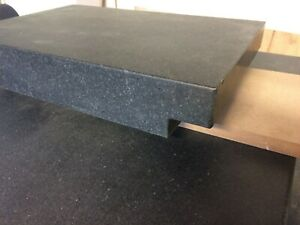 12 X 18 X 3 Granite Surface Plate Black With 2 Lip On The Ends Table Top