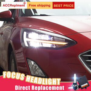 2pcs For Ford Focus Headlights Assembly Bi xenon Lens Projector Led Drl 2019