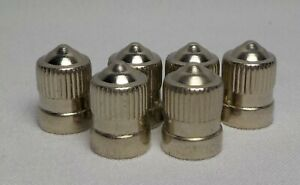 6 Stainless Steel Tire Valve Stem Caps Car Truck Air Caps Brand New Schrader