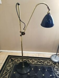 Louis Baldinger Architectural Brass Industrial Style Floor Lamp