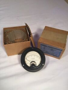 Vintage Nos Weston Model 301 Milliamperes Dc Gauge 0 15 Usn Type Cv 22132 Nib