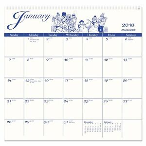 12 month Illustrator s Edition Wall Calendar 12 X 11 3 4 Illustrations 2018