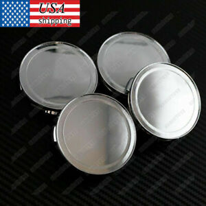 4pcs Replacement Wheel Center Caps Covers Chrome Silver No Logo Universal 76mm