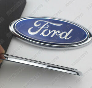 4 5inch Emblem Auto Logo Ford Blue Oval Hood Back Trunk Grille Rear Tailgate