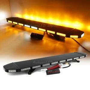 360w 53 Led White Amber Warning Emergency Roof Tow plow Truck Strobe Light Bar