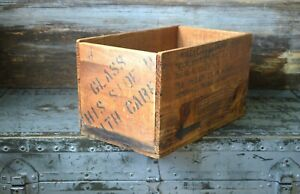Vintage Wooden Shipping Crate From The J T Baker Chemical Company