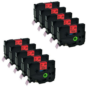10pk Black On Red Tz Tze441 Tape For Brother P touch Pt 1880w 18mm Label Maker