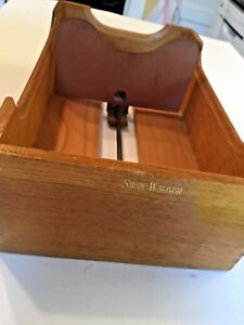 Vintage Shaw Walker Oak Wood Library Card File Box Dovetailed Office Furnishings