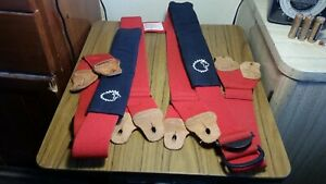 Lion Apparel Firefighter Suspenders Red Padded H style Model Sb350 10