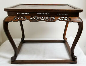 Antique Fine Chinese Japanese Hardwood Table Stand Base Rosewood Hongmu Huali