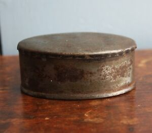 Civil War Era Small Oval Tinned Snuff Tobacco Box Fantastic Patina All Original