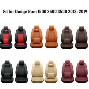 Car Seat Covers Fit For Dodge Ram 2013 2019 Pu Leather Truck Cushion 5 seats