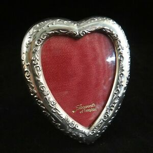 Vintage Sterling Heart Shaped Picture Frame Silvercraft Of London 4 X 3 3 8