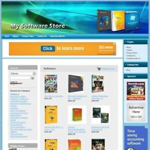 Microsoft Windows Software Store Fully Automated Make Money Business Website