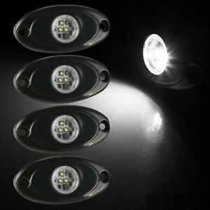 4x 9w 2 White Cree Led Rock Light Bar Wheel Rv For Jeep Truck Suv Off Road Boat