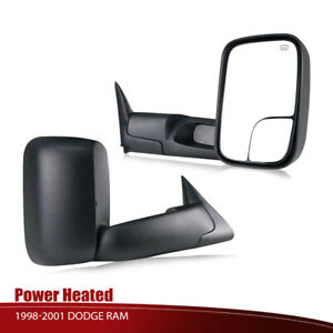 L r Fit 1998 2001 Dodge Ram 1500 2500 3500 Flip Up Power Heated Towing Mirrors