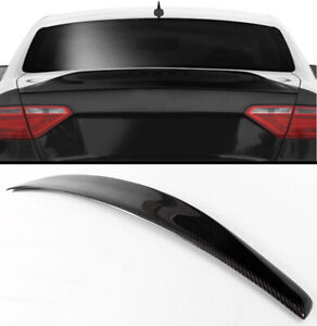 08 2016 Audi A5 Coupe Cat Style Carbon Fiber Rear Trunk Spoiler Boot Lid Wing