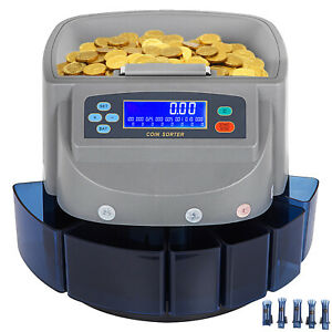 Coin Counter Sorter Automatic Money Counting Machine Digital Electronic