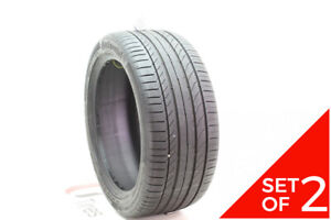 Set Of 2 Used 255 40r18 Continental Contisportcontact 5 Ssr 95y 7 8 32