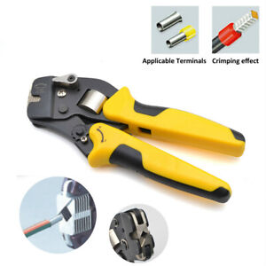 Vsc10 16 4a 0 08 16mm 11 5awg Ve Tube Bootlace Terminal Crimping Pliers Tool