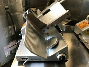 Bizerba Se12 Commercial 12 Heavy Duty Manual Meat Cheese Deli Slicer works